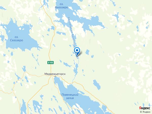 посёлок Морская Масельга на карте