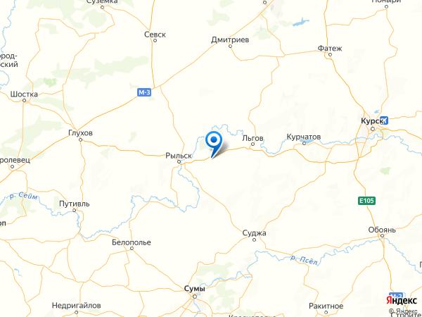 посёлок Марьино на карте