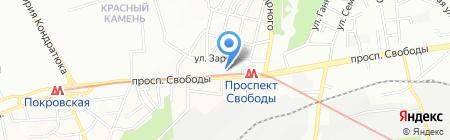 Водограй на карте Днепропетровска