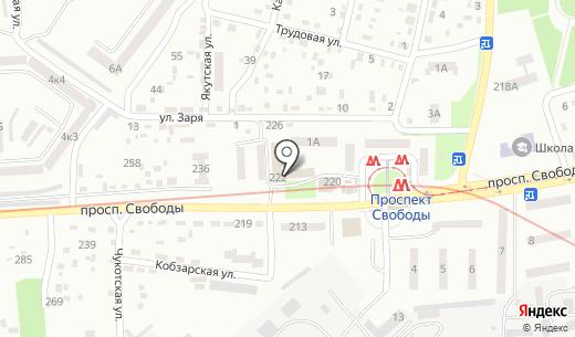 Водограй. Схема проезда в Днепропетровске