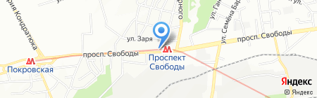 Бородинская вода на карте Днепропетровска
