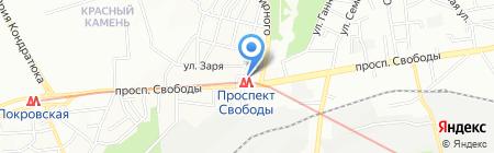 Живчик на карте Днепропетровска