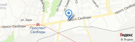 Арагил на карте Днепропетровска