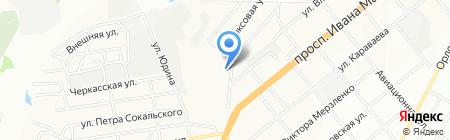 Парикмахерская на карте Днепропетровска