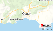 Базы отдыха города Судак на карте