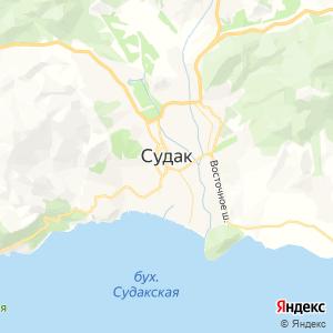 Карта города Судака