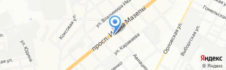 Эдельвейс на карте Днепропетровска