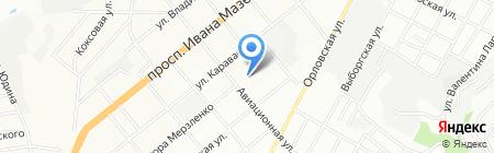 Банкомат Райффайзен Банк Аваль на карте Днепропетровска