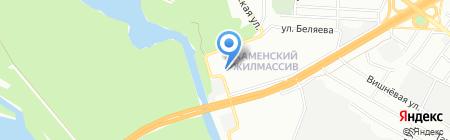 Батерфляй на карте Днепропетровска