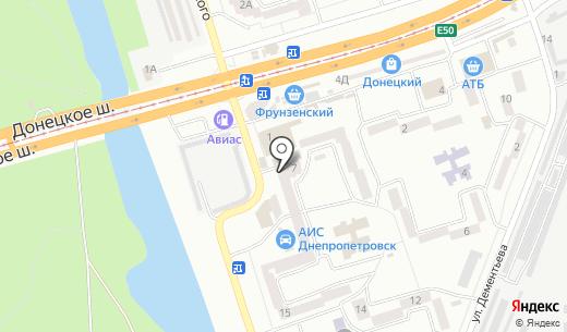 ОкнаДом. Схема проезда в Днепропетровске