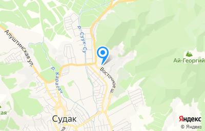 Местоположение на карте пункта техосмотра по адресу Респ Крым, г Судак, ул Восточное шоссе, д 7