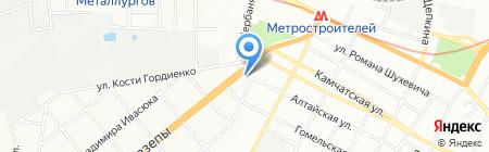 Нікопольське курча на карте Днепропетровска