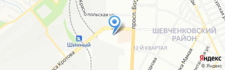 Управління праці та соціального захисту населення Бабушкінського району на карте Днепропетровска