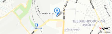 Крафт на карте Днепропетровска