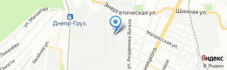 Бронепласт на карте Днепропетровска