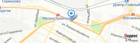 Пчелки на карте Днепропетровска