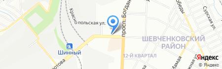 Башмачникъ на карте Днепропетровска