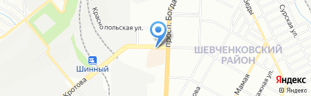 Алмазная заточка на карте Днепропетровска
