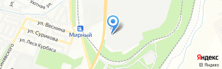 Каменный двор на карте Днепропетровска