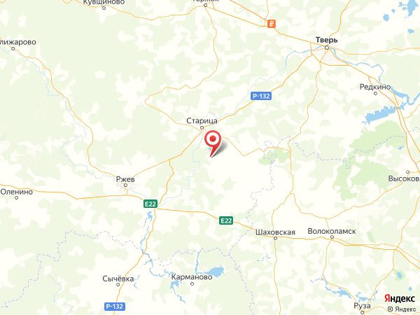 поселок Ивановское на карте
