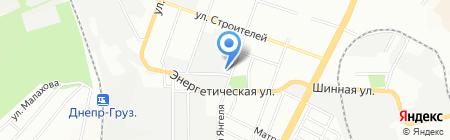 Сантехбуд на карте Днепропетровска