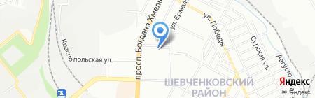 Аванта на карте Днепропетровска