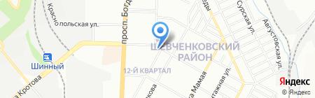 Аква тала на карте Днепропетровска
