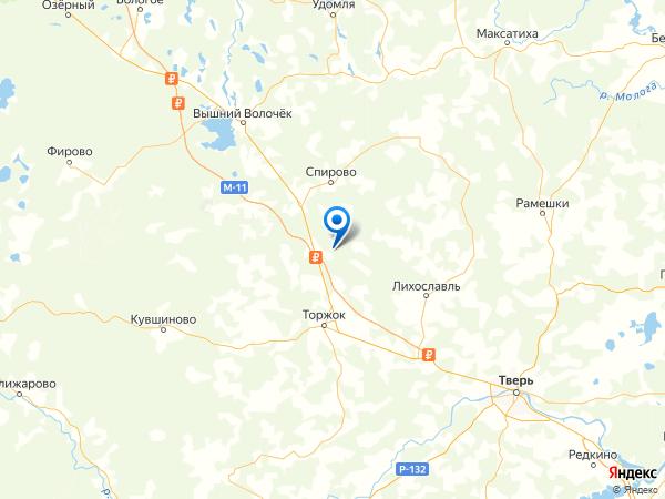 деревня Костерево на карте