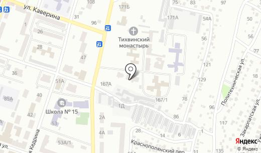 Дніпропетровський навчально-реабілітаційний центр №1. Схема проезда в Днепропетровске