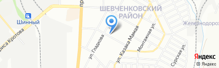 Солодощі України на карте Днепропетровска