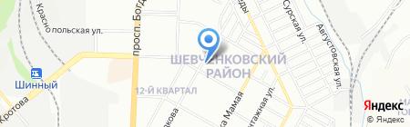 Микс на карте Днепропетровска