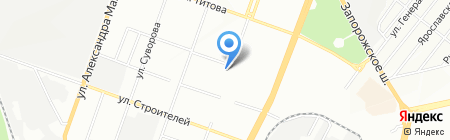 Хлебозавод №8 на карте Днепропетровска