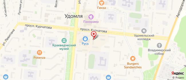 Карта расположения пункта доставки СИТИЛИНК в городе Удомля