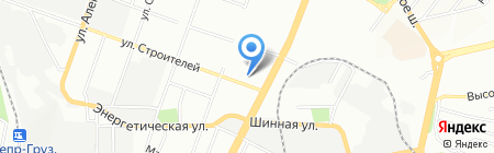 Саяны на карте Днепропетровска