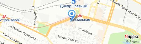 Массажкин Рай на карте Днепропетровска