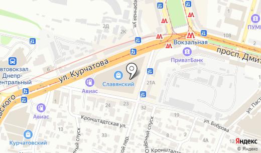 ТАМИР. Схема проезда в Днепропетровске