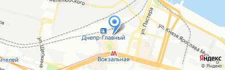 Булочная №1 на карте Днепропетровска