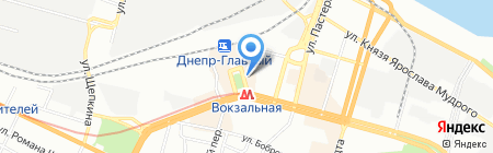 Мини на карте Днепропетровска