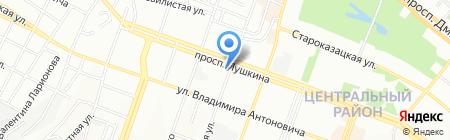 Красногвардійська районна у м. Дніпропетровську рада на карте Днепропетровска