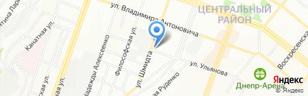 Апостиль на карте Днепропетровска