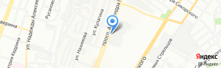 Яран Днепр на карте Днепропетровска