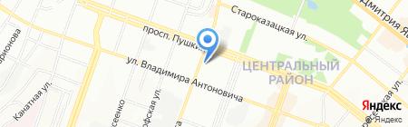Азас на карте Днепропетровска