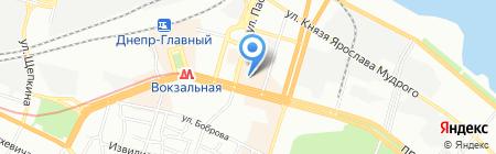 Лира Вояж на карте Днепропетровска