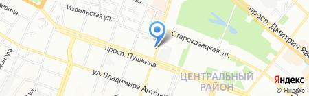 Печатник на карте Днепропетровска