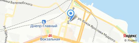 Кудесница на карте Днепропетровска