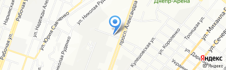 Харківські ковбаси на карте Днепропетровска