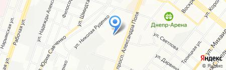 Астра тур на карте Днепропетровска