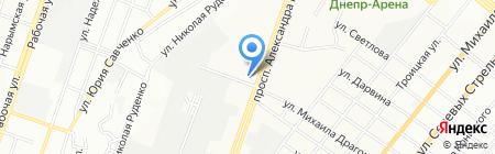 Алидея на карте Днепропетровска