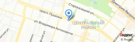 Галерея стекла и фарфора на карте Днепропетровска
