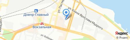 Днепртехпромсервис на карте Днепропетровска